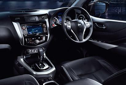 Nissan Navara interior with automatic transmission