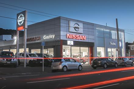 Galzey Nissan Wellington showroom