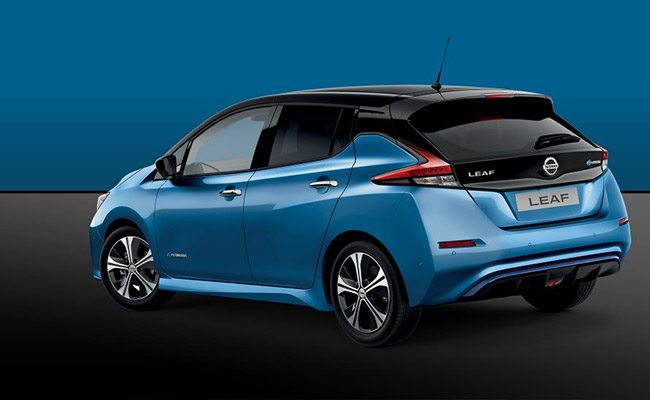 gazley nissan leaf finished in blue with black roof
