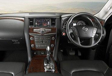 Nissan patrol interior with wood trim